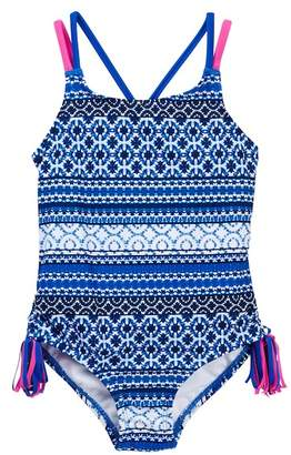 Tommy Bahama Printed Swimsuit (Big Girls)
