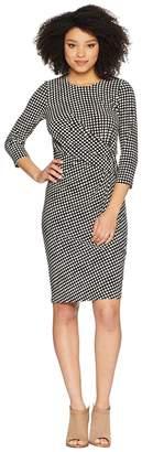 Anne Klein Dot Drape Front Knit Dress Women's Dress