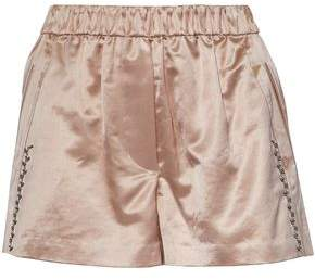 3.1 Phillip Lim Embellished Cotton-Blend Satin-Brocade Shorts