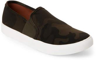Steve Madden Green Emlen Camo-Print Slip-On Sneakers