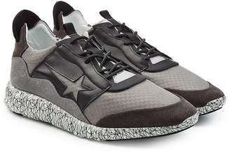 Golden Goose Mesh and Leather Haus Edge Sneakers