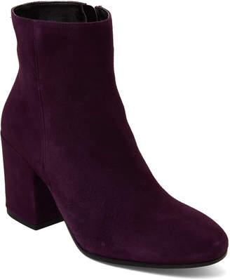 Gabriella Purple Suede Block Heel Ankle Boots