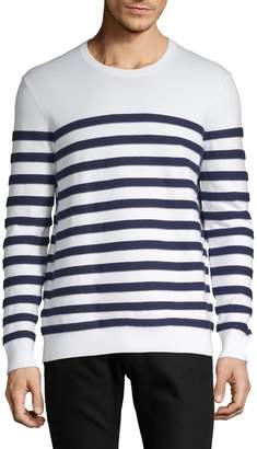 Black Brown 1826 Striped Crewneck Sweater