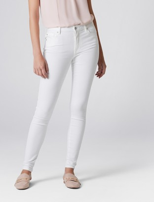 Forever New Ivy Mid Rise Full Length Skinny Jeans - Optic White - 16