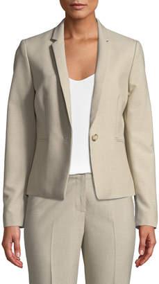 Tahari ASL Joan One-Button Twill Jacket