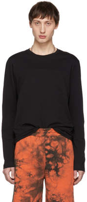 Helmut Lang Black Band Seam Long Sleeve T-Shirt