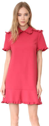 RED Valentino Collared Short Sleeve Dress $595 thestylecure.com