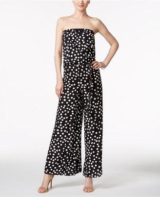 Msk Printed Strapless Blouson Jumpsuit $69 thestylecure.com