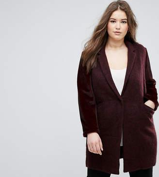 Elvi Maroon Boyfriend Coat