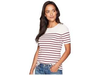 Lauren Ralph Lauren Button-Trim Striped Sweater