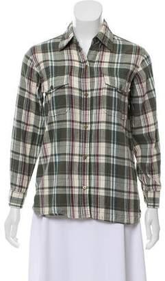Current/Elliott Plaid Flannel Shirt