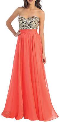 Asstd National Brand Semi Formal Long Maid Of Honor Dress