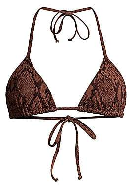 Mara Hoffman Women's Rae Snakeskin-Print Bikini Top