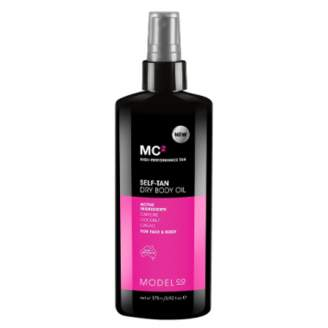 Model CO Self-Tan Dry Body Oil