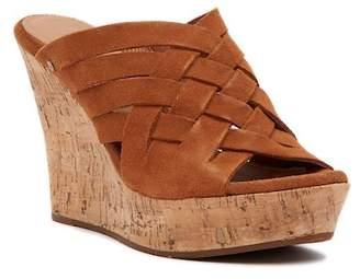 UGG Marta Strappy Suede Wedge Sandal
