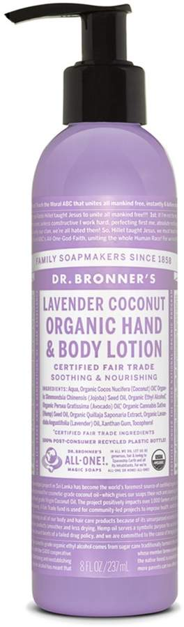 Dr. Bronner's Lavender Coconut Organic Hand Body Lotion by 8oz Lotion)