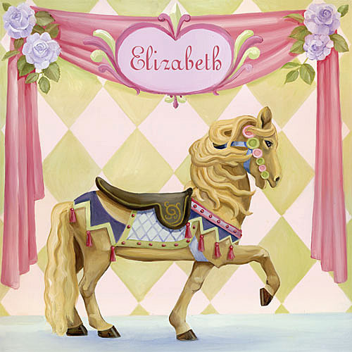 Carousel Horse Canvas Reproduction