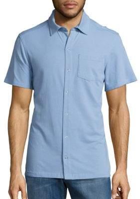 Spenglish Knit Snap Button-Down Shirt