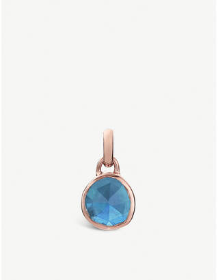 Monica Vinader Siren mini 18ct rose-gold vermeil and kyanite bezel pendant