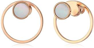 Skagen Women's Agnethe -Tone Mother-of-Pearl Stud Earrings