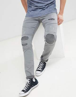 Jack and Jones Intelligence GLENN biker jeans