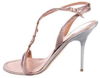 Rene Caovilla Strass Ankle Strap Sandals