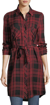Dex Plaid Flannel Shirt Dress