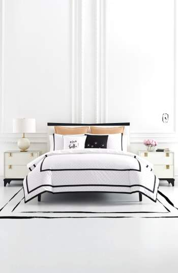 Dot Frame Duvet Cover & Sham Set