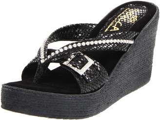 Sbicca Women's Horizon Snake Wedge Sandal