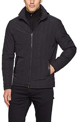 John Varvatos Men's Quilted Jacket Bian 001