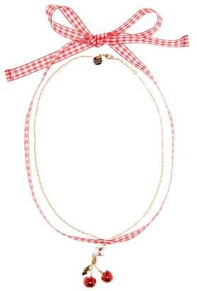 Miu Miu Embellished cherry choker
