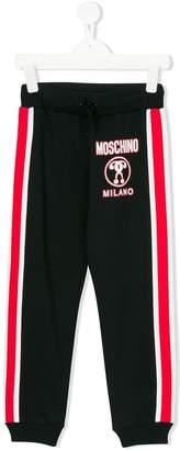 Moschino Kids side stripe track pants