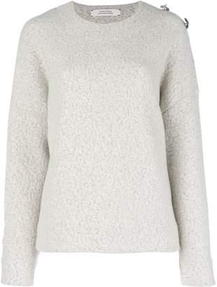 Schumacher Dorothee brooch embellished drop-shoulder sweater