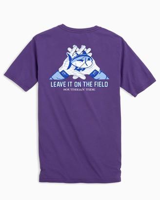 Southern Tide Gameday Skipjack Gloves T-shirt - Louisiana State University