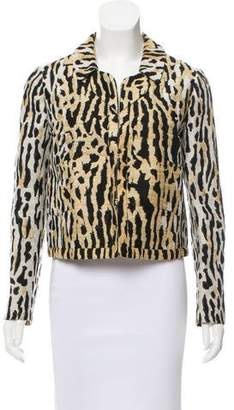 Valentino Embroidered Animal-Patterned Jacket
