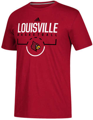 adidas Men Louisville Cardinals On Court Practice T-Shirt