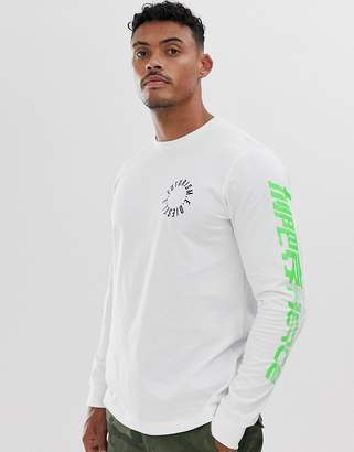 Diesel T-Just long sleeve logo t-shirt in white
