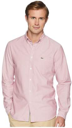 Lacoste Long Sleeve Oxford Button Down Collar Regular Men's Long Sleeve Button Up