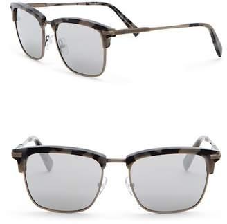 Ermenegildo Zegna 53mm Clubmaster Sunglasses
