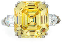 FANTASIA Asscher-Cut Yellow CZ Ring