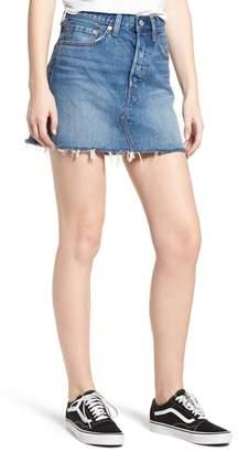 Levi's Deconstructed Denim Skirt