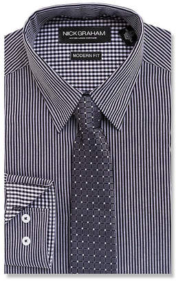 Co GRAHAM AND Nick GrahamModern Fit Dress Shirt and Tie Set