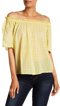 Velvet by Graham & Spencer Off-the-Shoulder Cotton Blouse