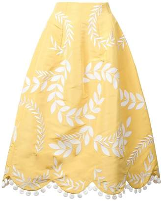 Oscar de la Renta embroidered a-line skirt