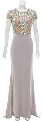 Terani Couture Embellished Evening Gown w/ Tags