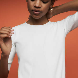 Maje Fine knit sweater with short sleeves