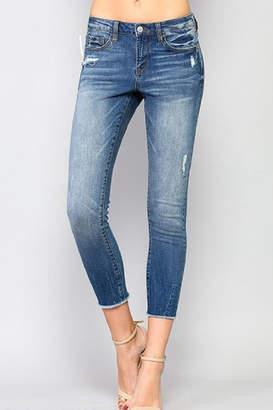 Simple Crop Skinny Jeans