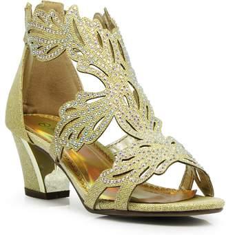 073cfd7a0fe7ab Enzo Romeo Lime03N Womens Open Toe Mid Heel Wedding Rhinestone Gladiator  Sandal Wedge Shoes (8