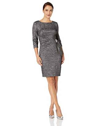 12f956599b26 at Amazon.com · Jessica Howard Women's Petite Side Tucked Sheath Dress with  Rhinestone Detail