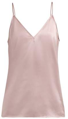 Raey V Neck Silk Cami Top - Womens - Dusty Pink